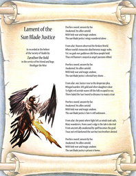 Lament of the Sun Blade Justice