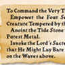 Tide Stone instructions