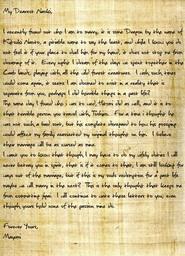 Mayumi Naoki Letter
