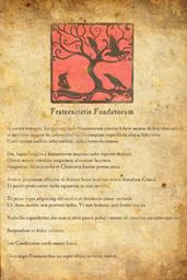 Parchemin Fraternitatis Fundatorum