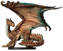 Brass Dragon Figurine