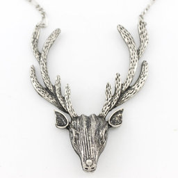 Silver Stag Amulet