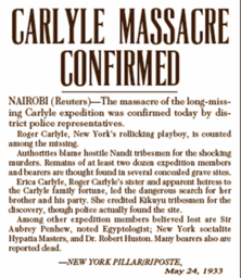 Carlyle Expedition Clipping #8