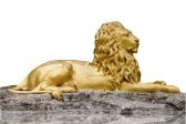 Golden Lion Figurine