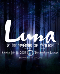 Luna & the Nymphs of Evening Poster