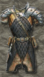 Black Iron Scale Armour +1