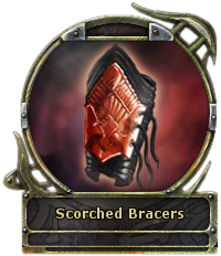 Scorched Bracers