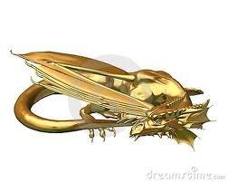 Golden Dragon Figurine