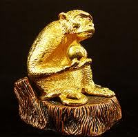 Golden Monkey Figurine