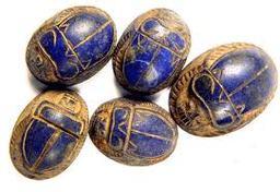 Lapis Lazuli scarab